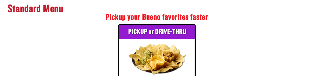 Pick up your Bueno favorites faster - Start Order